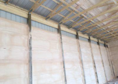 Steel Building Spray Foam Insulation